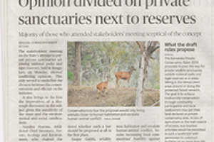 Stating that private holdings of forest land for eco-tourism is not sustainable