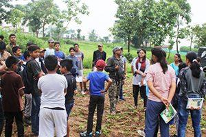 Tree planting in government high school vontikoppal