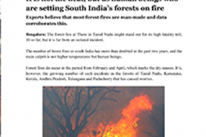 Forest fire and its ill effects
